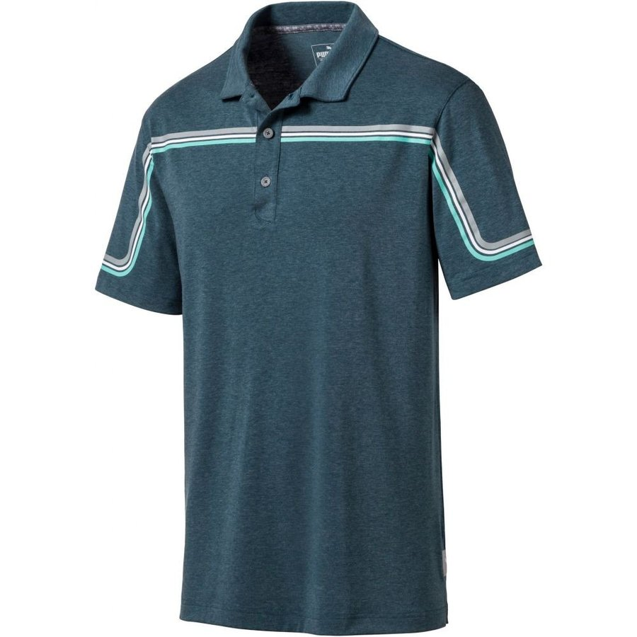プーマ PUMA メンズ ゴルフ ポロシャツ トップス looping golf polo Gibraltar Sea Heather