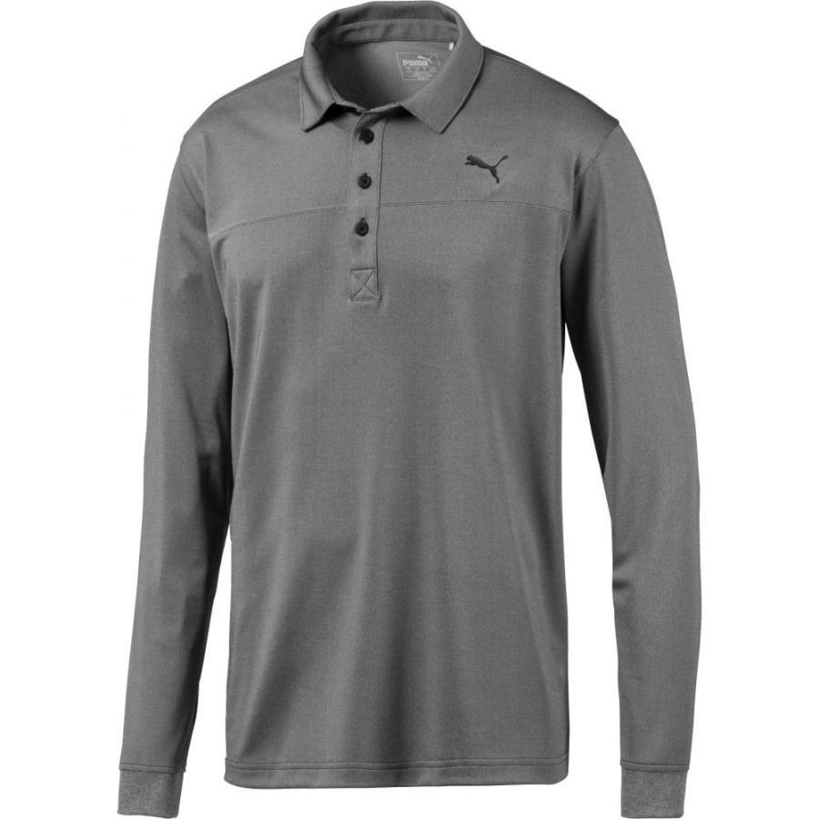 プーマ PUMA メンズ ゴルフ ポロシャツ トップス long sleeve golf polo Puma 黒 Heather