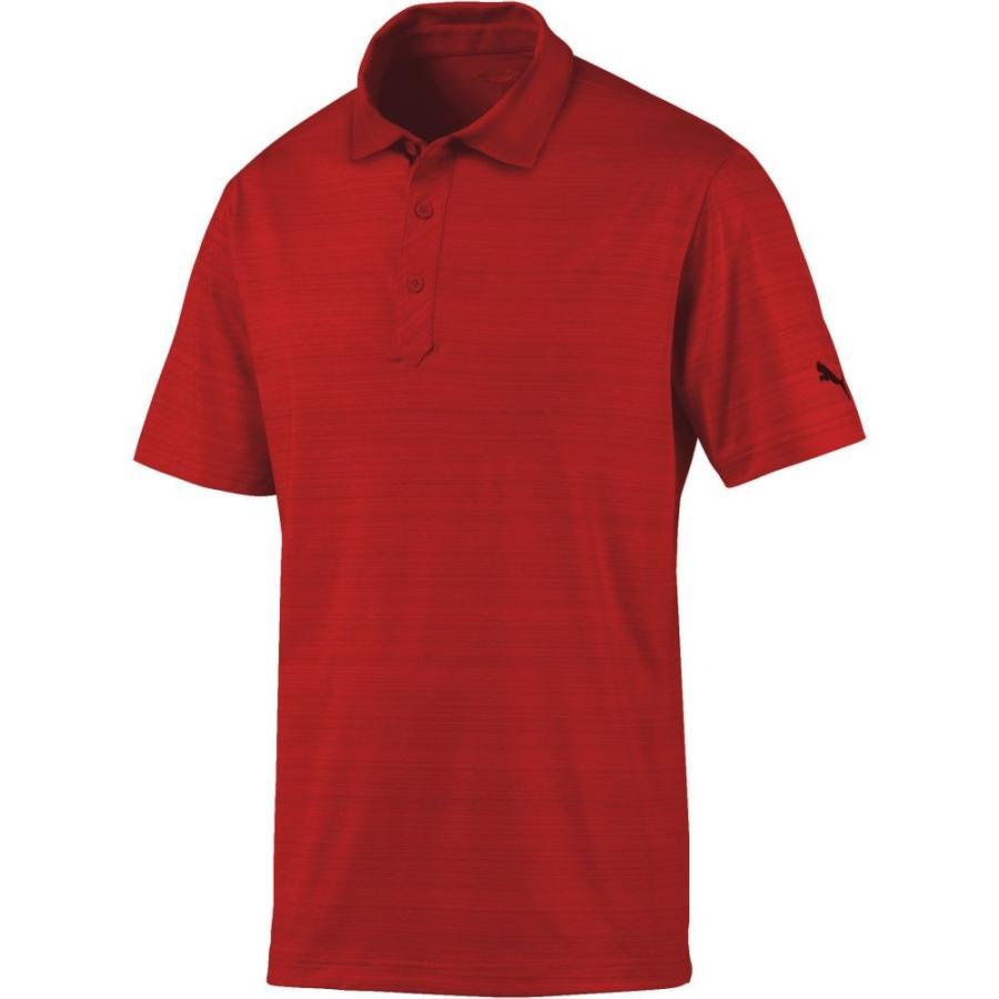 プーマ PUMA メンズ ゴルフ ポロシャツ トップス breezer golf polo Rhubarb Heather