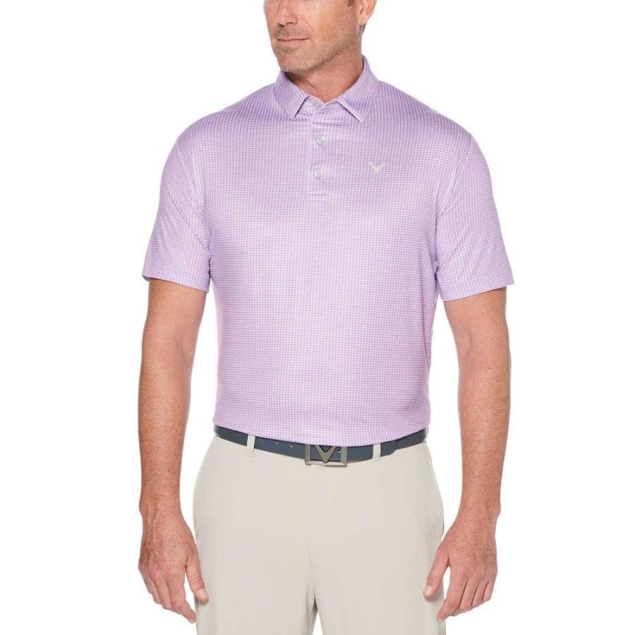 キャロウェイ Callaway メンズ ゴルフ ポロシャツ トップス houndstooth printed golf polo Fairy Wren