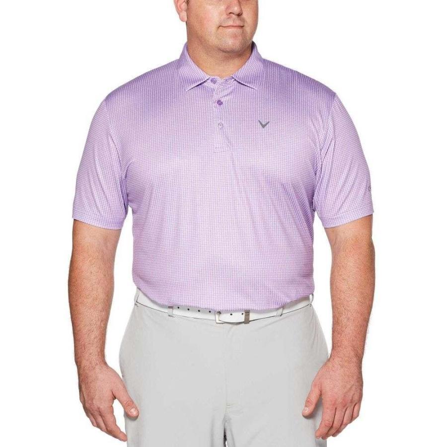 キャロウェイ Callaway メンズ ゴルフ 大きいサイズ ポロシャツ トップス houndstooth printed golf polo - big & tall Fairy Wren