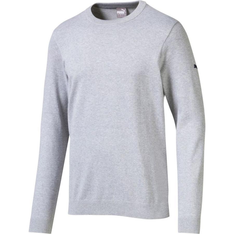 プーマ PUMA メンズ ゴルフ ニット・セーター トップス crew neck golf sweater Quarry Heather