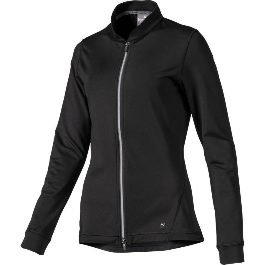 プーマ PUMA レディース ゴルフ ジャケット アウター full zip knit golf jacket Puma Black