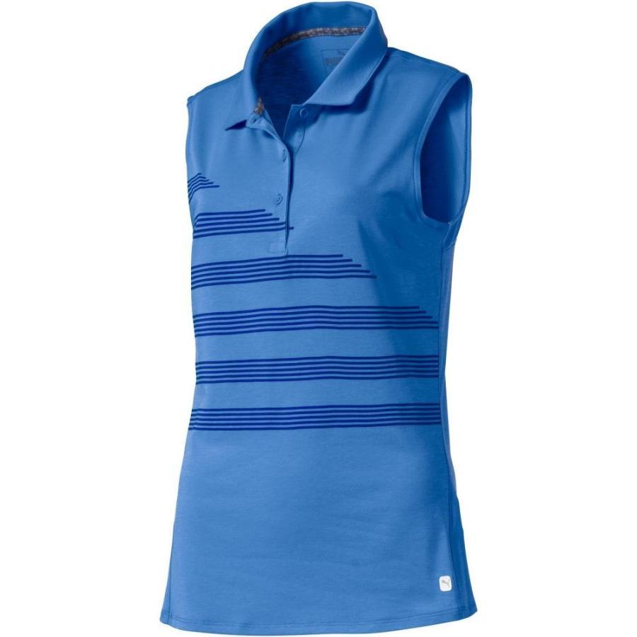プーマ PUMA レディース ゴルフ ノースリーブ ポロシャツ トップス step stripe sleeveless golf polo Ultramarine