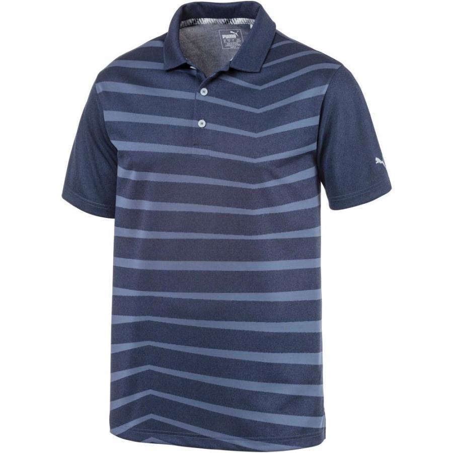 プーマ PUMA メンズ ゴルフ ポロシャツ トップス alterknit prismatic golf polo Peacoat Heather