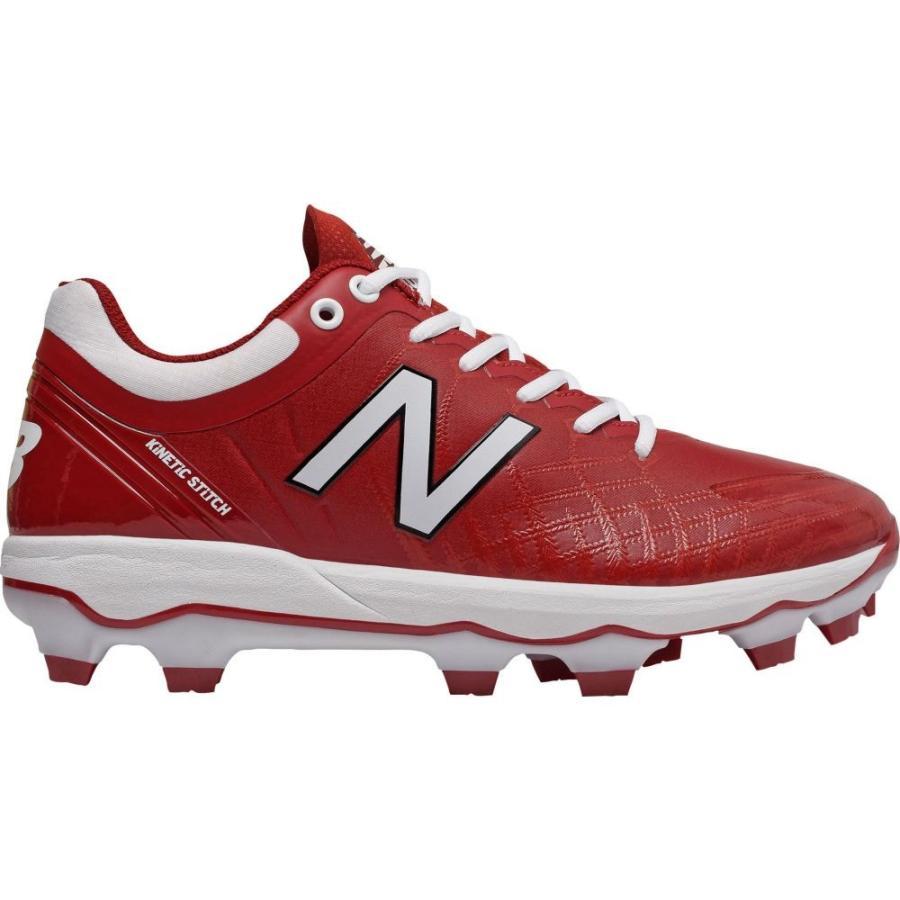 ニューバランス New Balance メンズ シューズ・靴 野球 4040 v5 Baseball Cleats Maroon/白い