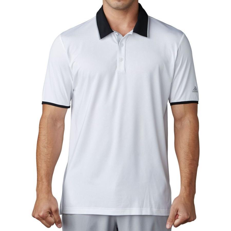 アディダス adidas メンズ ゴルフ ポロシャツ トップス climacool performance golf polo 白い/黒/Mid グレー