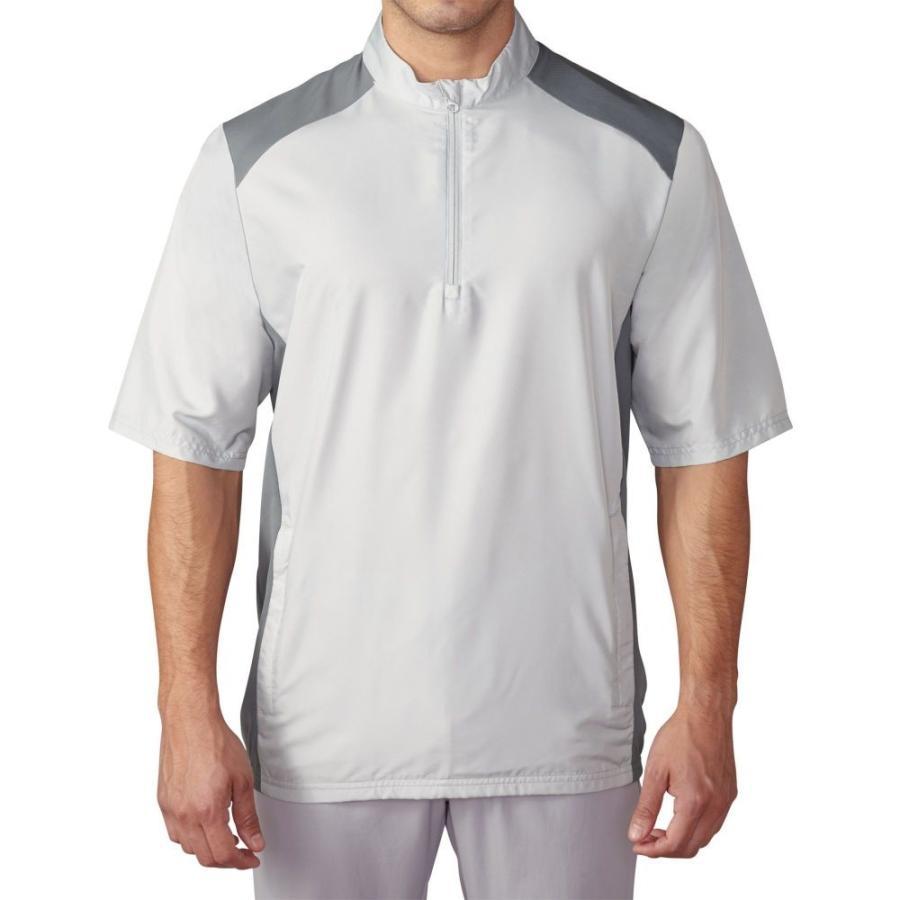 アディダス adidas メンズ ゴルフ ウィンドブレーカー アウター club short sleeve golf wind jacket Stone