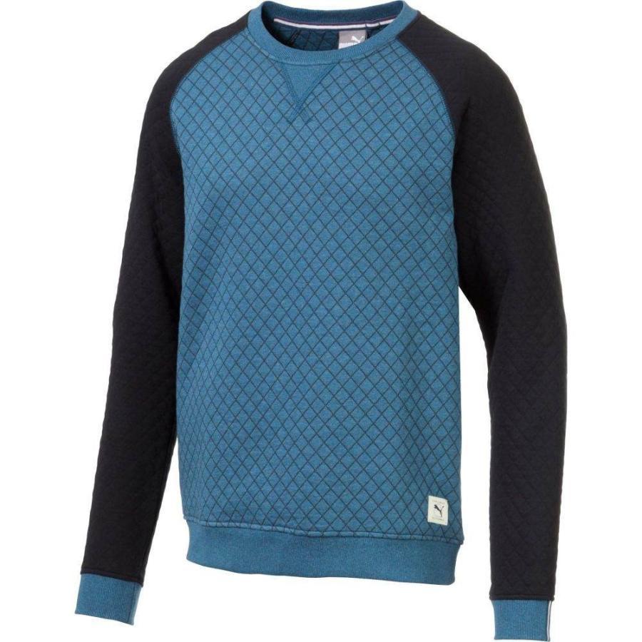 最新デザインの プーマ PUMA メンズ ゴルフ ニット・セーター トップス Quilted Crew Neck Golf Sweater Gibraltar Sea Heather, インテリアshop Decor -デコレ- 9f723036