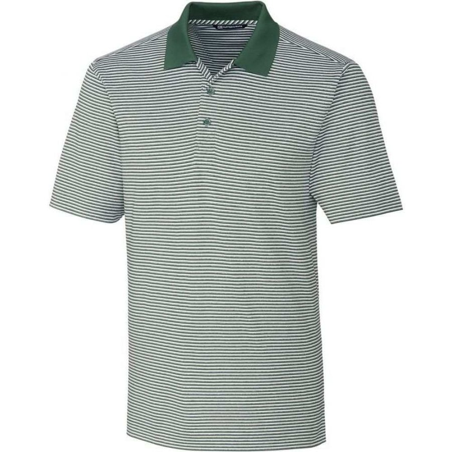 人気が高い カッター&バック Cutter & Buck メンズ ゴルフ ポロシャツ トップス Forge Tonal Stripe Golf Polo Hunter, ロストボールの shop 南風 a0955021