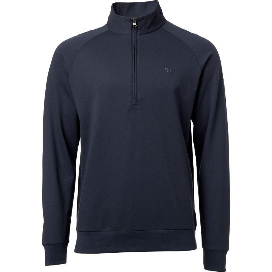 【メール便不可】 トラビスマシュー TravisMathew メンズ ゴルフ トップス Newton 1/4 Zip Golf Pullover Blue Nights/Vintage Indgo, イイタカチョウ f08fcb3d