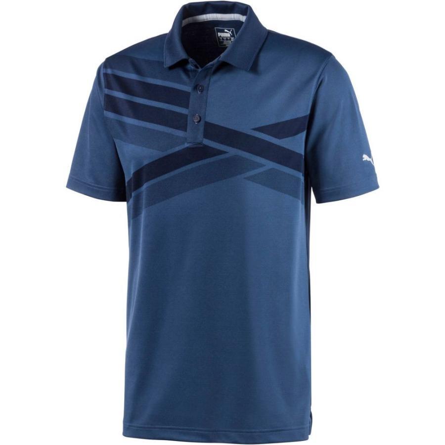 春早割 プーマ PUMA メンズ ゴルフ ポロシャツ トップス Alterknit Texture Golf Polo Peacoat, 快眠博士 e5264c96