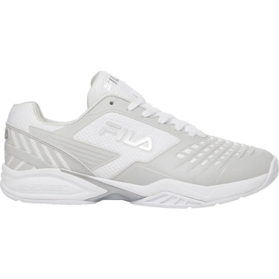 格安人気 フィラ Fila メンズ テニス シューズ・靴 Axilus 2 Energized Tennis Shoe White/Silver, 富士スポーツ 4fb7d6e7