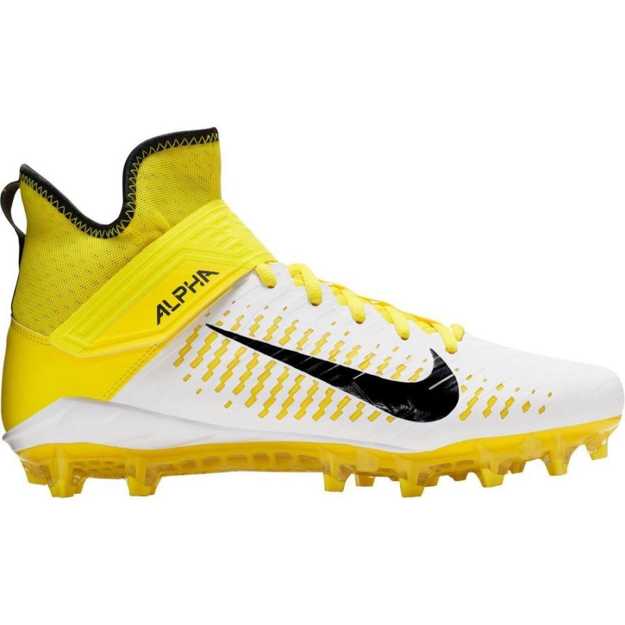 【オープニング大セール】 ナイキ Nike メンズ アメリカンフットボール スパイク シューズ・靴 Alpha Menace Pro 2 Mid Football Cleats White/Yellow, 韓国世界のグルメ@キムチでやせる 3009fc5a