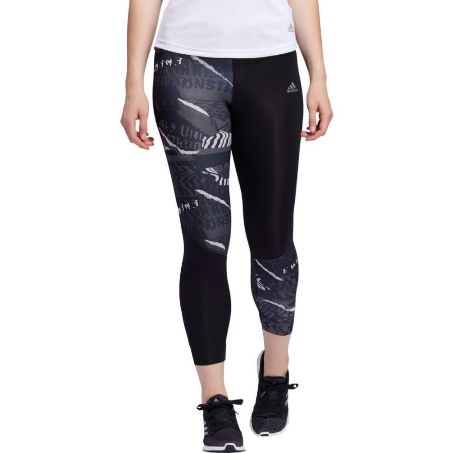 【予約中!】 アディダス adidas レディース ランニング・ウォーキング スパッツ・レギンス ボトムス・パンツ Own The Run City Clash Printed Tights Black/Grey, 【人気沸騰】 6dd97d0d