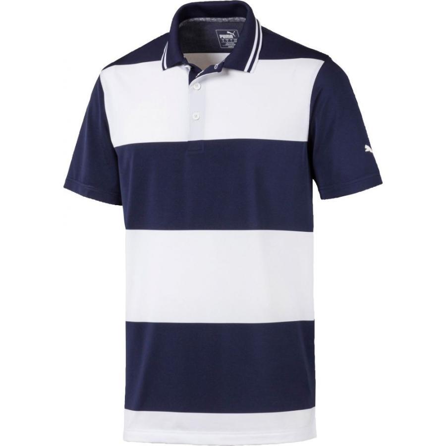 【即納】 プーマ PUMA メンズ ゴルフ ポロシャツ トップス Rugby Golf Polo Peacoat/Bright White, ロックファッションWAD-jellybeans 768e7f16