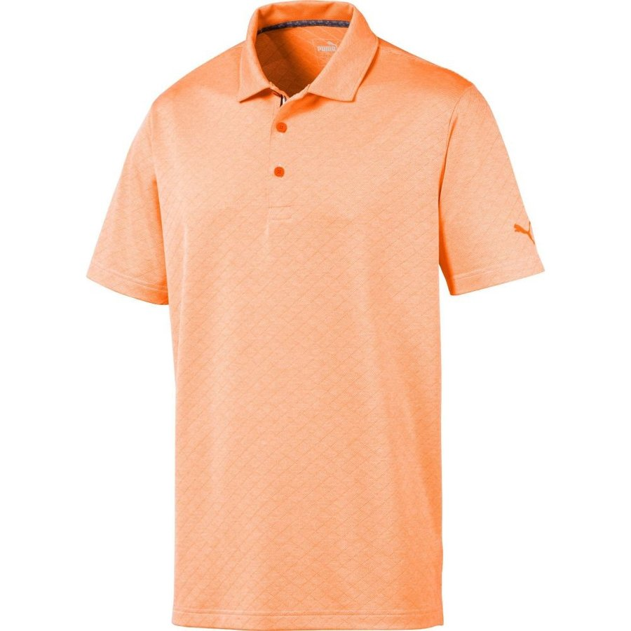 激安単価で プーマ PUMA メンズ ゴルフ ポロシャツ トップス Field Golf Polo Vibrant Orange Heather, YUKI Closet 08e12a62