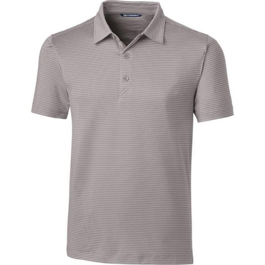 史上最も激安 カッター&バック Cutter & Buck メンズ ゴルフ ポロシャツ トップス Forge Pencil Stripe Tailored Fit Golf Polo Polished, カワミナミチョウ 1bb66f6e