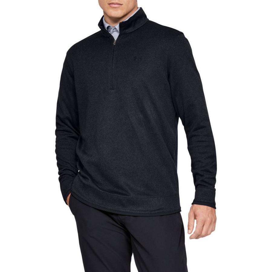 【内祝い】 アンダーアーマー Black Under Armour メンズ 1/2 ゴルフ ハーフジップ トップス Armour Sweaterfleece Golf 1/2 Zip Black, タジリチョウ:0d3f6173 --- airmodconsu.dominiotemporario.com