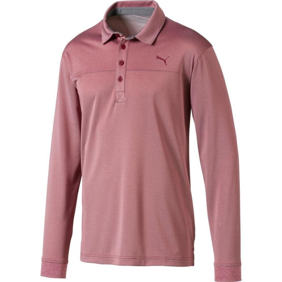 【メーカー直売】 プーマ PUMA メンズ ゴルフ ポロシャツ トップス Long Sleeve Golf Polo Rhubarb Heather, 西春日井郡 48f2da7c