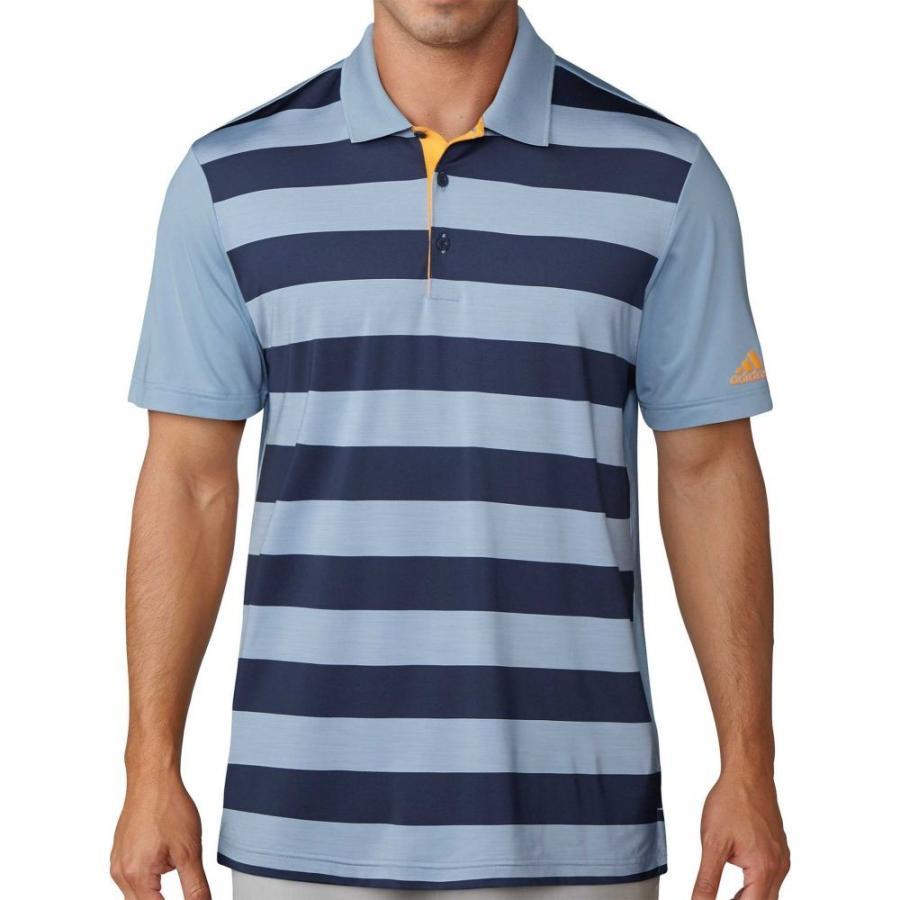 2019公式店舗 アディダス adidas メンズ ゴルフ ポロシャツ トップス Ultimate Light adidas Rugby Ultimate Stripe Golf Polo Light Blue/Navy, ユナイテッド コレクション:2a000f67 --- airmodconsu.dominiotemporario.com