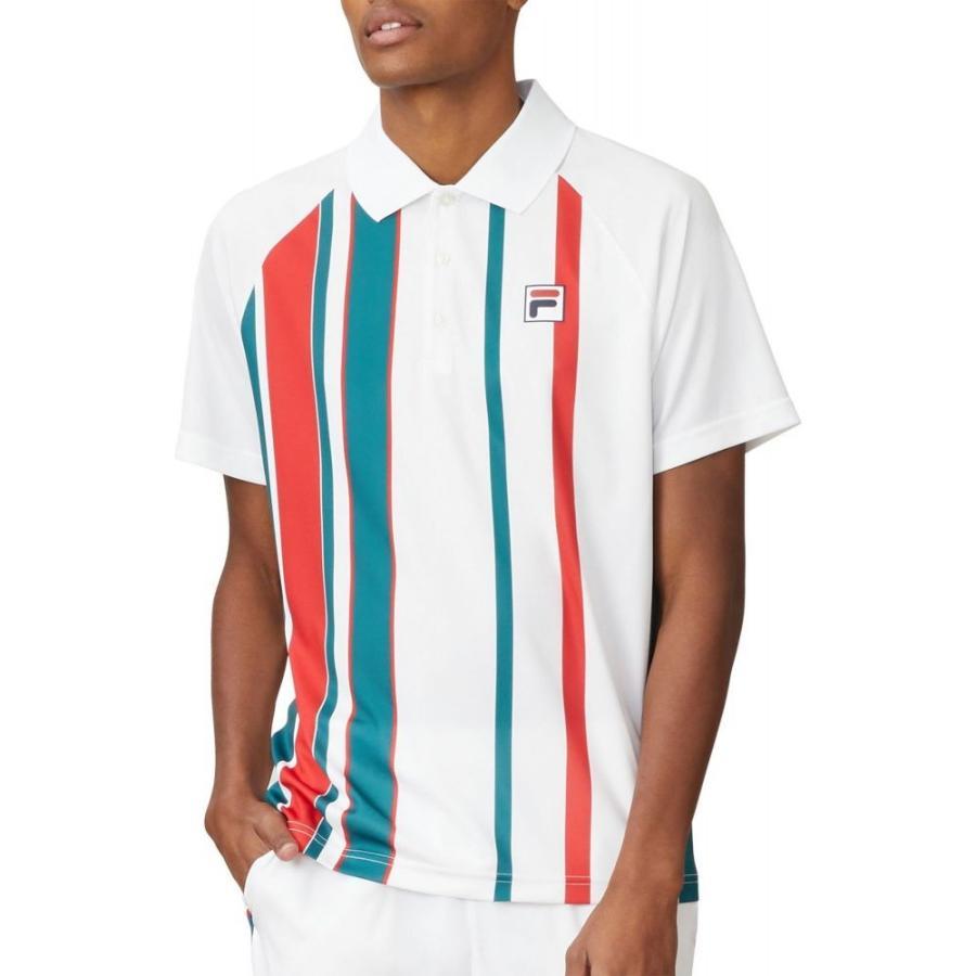 買得 フィラ Fila メンズ Fila メンズ テニス ポロシャツ トップス FILA Stripe Stripe Print Tennis Polo White/Pacific/Chinese Red, 銀座 東京フラワー:35be3063 --- airmodconsu.dominiotemporario.com