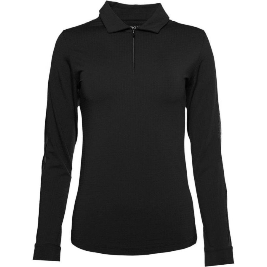 【特別セール品】 IBKUL レディース ゴルフ ポロシャツ トップス Long Sleeve Golf Polo Black, G-FACTORY f3065698