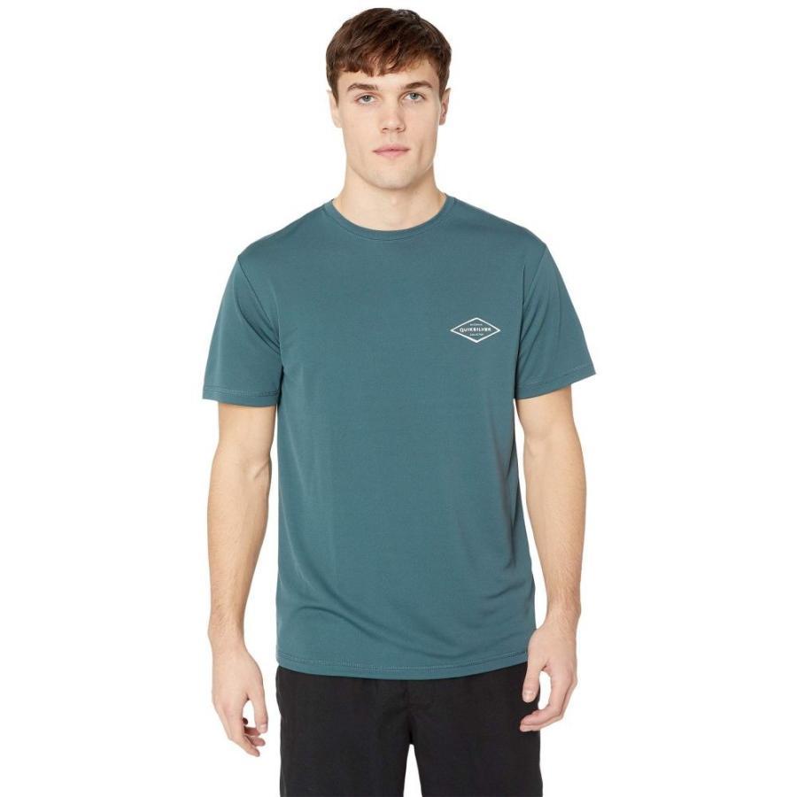 クイックシルバー Quik銀 Waterman メンズ ラッシュガード 水着・ビーチウェア Gut Check Short Sleeve Orion 青