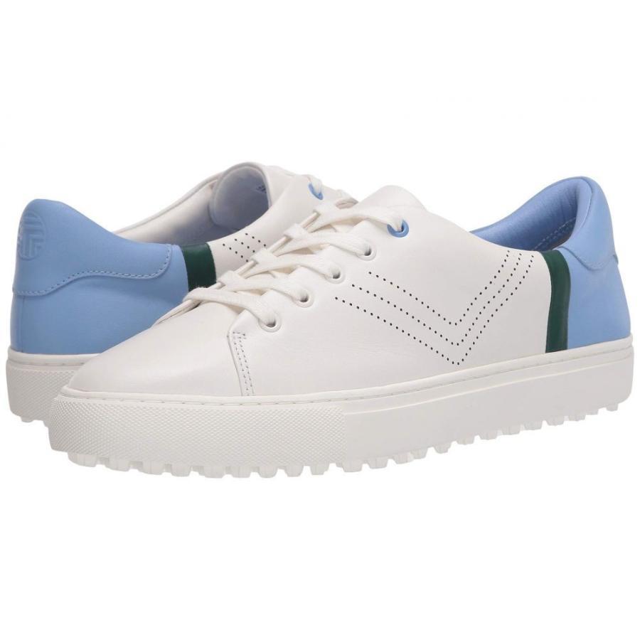【お買得!】 トリー Sneaker バーチ Tory White/Ace バーチ Sport レディース ゴルフ スニーカー レースアップ シューズ・靴 Perforated Lace-Up Golf Sneaker Snow White/Ace Blue/Conifer, 直久:443f896d --- airmodconsu.dominiotemporario.com