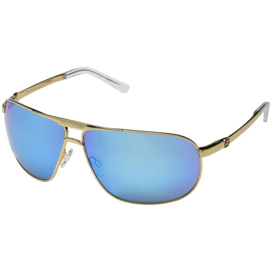 ボンジッパー VonZipper レディース スポーツサングラス Skitch ゴールド Gloss/青 Chrome