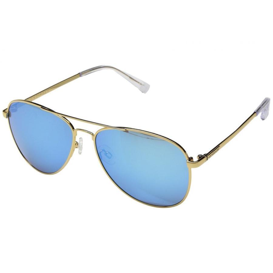 ボンジッパー レディース スポーツサングラス Farva ゴールド Gloss/青 Chrome