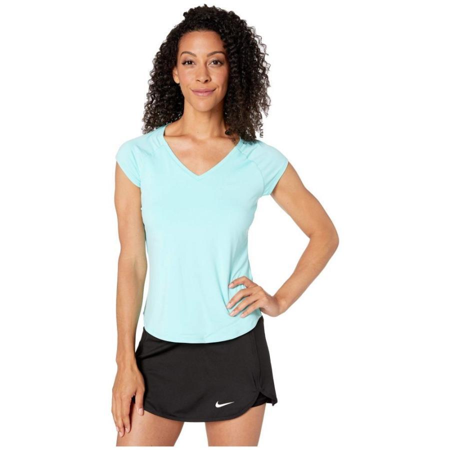 ナイキ Nike レディース トップス テニス Court Pure Tennis Top Light Aqua/Light Aqua