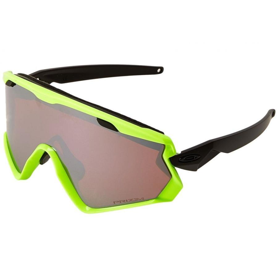 オークリー レディース スポーツサングラス Wind Jacket 2.0 Neon Retina/Prizm 黒