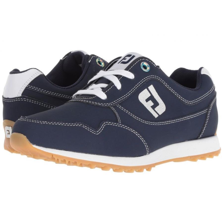 フットジョイ レディース シューズ・靴 ゴルフ Sport Retro Spikeless Street Sneaker All Over Navy