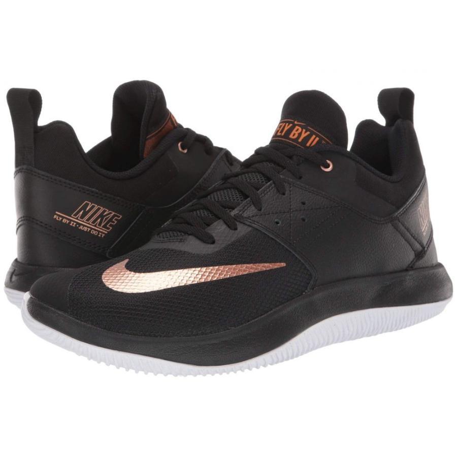 ナイキ Nike メンズ バスケットボール シューズ・靴 fly.by low ii 黒/Metallic Copper/白い