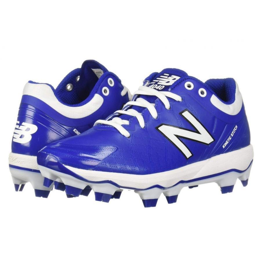 ニューバランス New Balance メンズ シューズ・靴 野球 4040v5 TPU Royal/白い