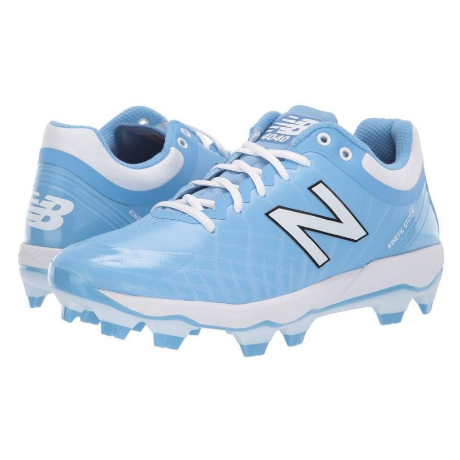 ニューバランス New Balance メンズ シューズ・靴 野球 4040v5 TPU Baby 青/白い