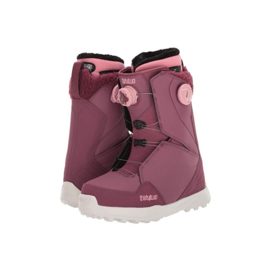 【売り切り御免!】 サーティーツー thirtytwo レディース スキー・スノーボード シューズ・靴 lashed double boa '19 Rose, 河内郡 f4141466