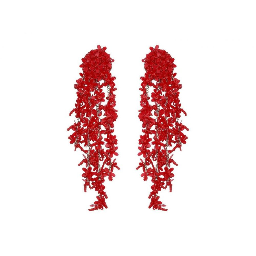 フジオカシ オスカー デ ラ レンタ Oscar de la Renta レディース イヤリング・ピアス ジュエリー・アクセサリー Beaded Cascade Drop Earrings Cranberry, switch (スイッチ) 8936e9e1