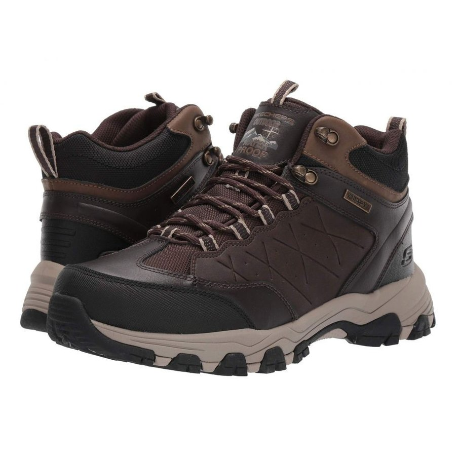 スケッチャーズ SKECHERS メンズ ハイキング・登山 シューズ・靴 Relaxed Fit Selmen - Telago Chocolate