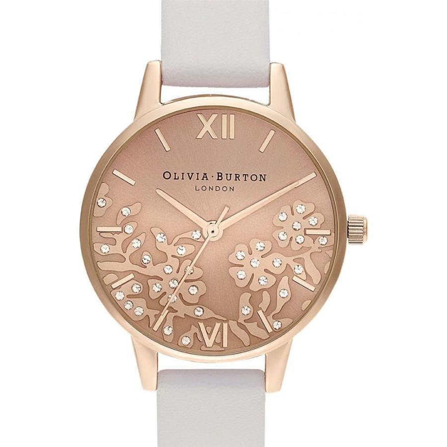最終値下げ オリビア バートン Olivia Burton レディース 腕時計 Bejewelled Lace Blush Leather Strap Watch Gold/White, 部屋着の時間 c1bfeb5d
