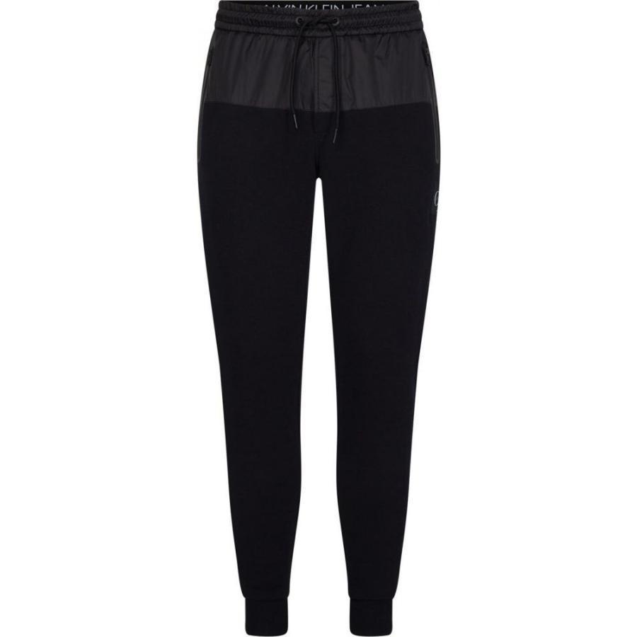 独創的 カルバンクライン Calvin Klein Jeans メンズ ランニング・ウォーキング ボトムス・パンツ Mixed Media Jogging Pants CK Black, クメナンチョウ 1c098667
