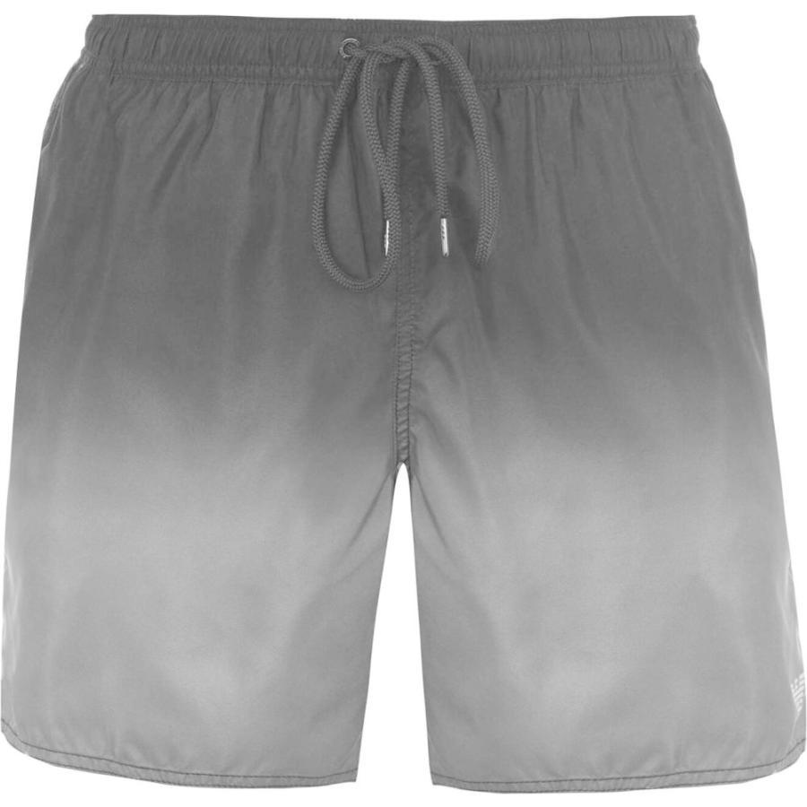 アルマーニ Armani Exchange メンズ 海パン ショートパンツ 水着・ビーチウェア ombre logo swim shorts Black