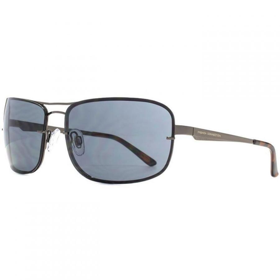 フレンチコネクション French Connection メンズ スポーツサングラス FC Metal Sports Wrap Sunglasses Gunmetal