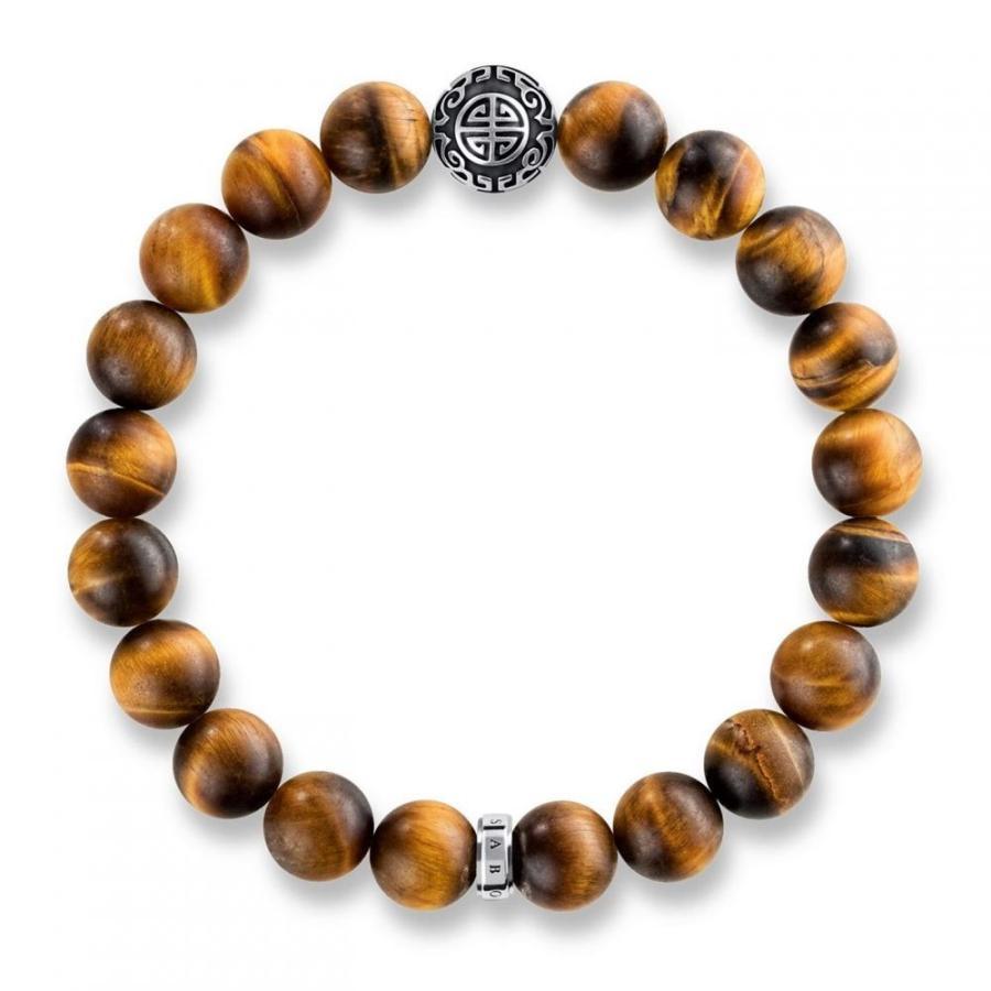 当店在庫してます! トーマスサボ Thomas Sabo レディース ブレスレット ハート ジュエリー・アクセサリー rebel at heart mala tiger`s eye bracelet Brown, ドリームMAX 6d800326