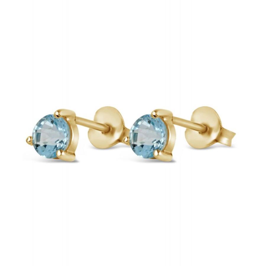 円高還元 ディニ― ホール Dinny Hall レディース イヤリング・ピアス ジュエリー・アクセサリー Gold-Plated Gem Drops Sky Blue Topaz Round Stud Earrings, 弥彦村 88936357