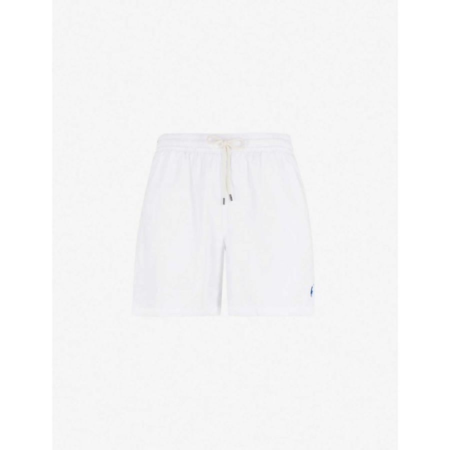 ラルフ ローレン POLO RALPH LAUREN メンズ 海パン 水着・ビーチウェア Traveller mid-rise swim shorts White