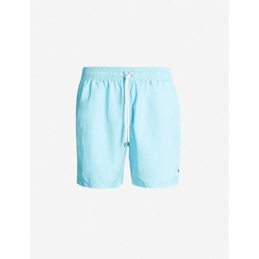 ラルフ ローレン POLO RALPH LAUREN メンズ 海パン 水着・ビーチウェア Traveller logo-embroide赤 swim shorts Hammond 青