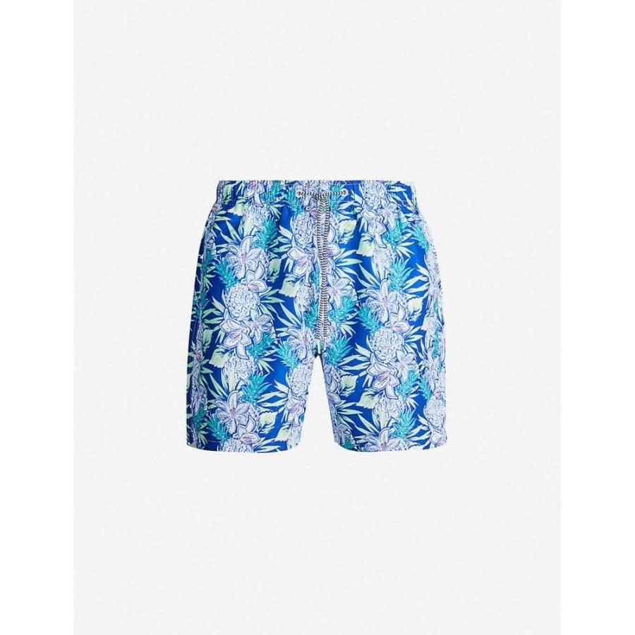 ボーディーズ BOARDIES メンズ 海パン ショートパンツ 水着・ビーチウェア aloha hawaiian-print swim shorts Navy