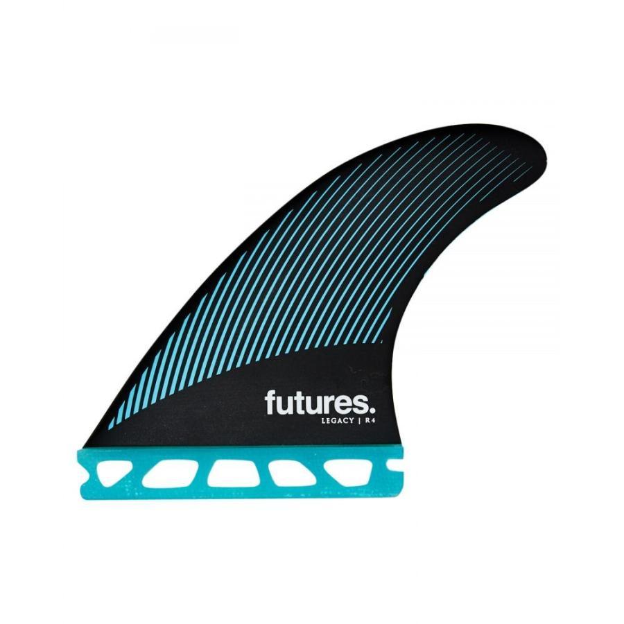 フューチャー フィン Future fins ユニセックス サーフィン R4 Raked Hc Thruster Fins Teal 黒s